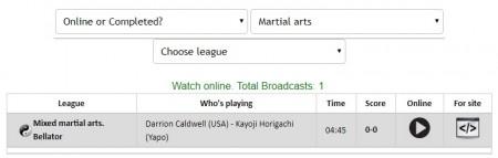 堀口恭司、RENA出場のBellator 222の試合をネットのライブストリーミング放送で無料で観るには ジャンル選択