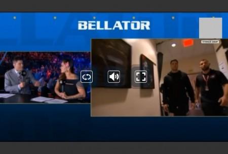堀口恭司、RENA出場のBellator 222の試合をネットのライブストリーミング放送で無料で観るには 視聴画面