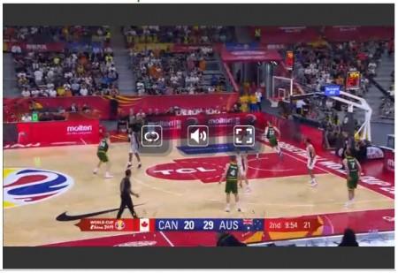 FIBAバスケットボールワールドカップ全試合をネットの無料ライブストリーミング放送で視聴するには 画面操作