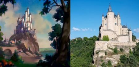 ディズニーの白雪姫の城のモデルと言われているスペイン・セゴビアのアルカサル