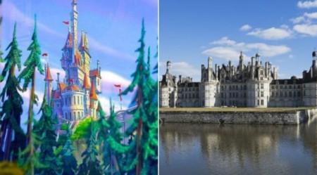 ディズニーの美女と野獣の城のモデルと言われているフランス・シャンボール城