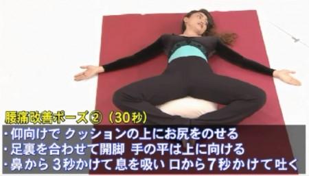 金スマ紹介「動かないゼロトレ」のやり方。腰痛解消ポーズその2のやり方