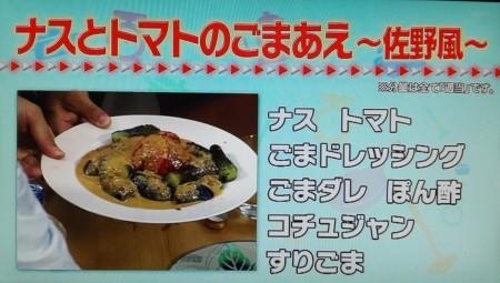タモリ倶楽部で披露されたタモリレシピ集ベスト9とは?ナスとトマトのごま和え