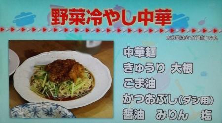 タモリ倶楽部で披露されたタモリレシピ集ベスト9とは?野菜冷やし中華