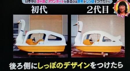 """なぜ日本中の池や湖にスワンボートがある?答えは""""しっぽ""""第98回 NHK「チコちゃんに叱られる!」より"""