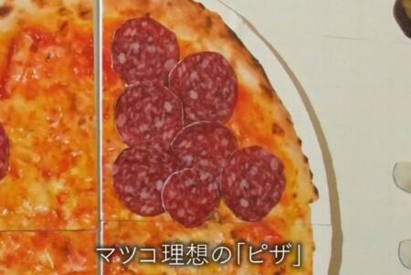 マツコの理想のピザトッピングはサラミだらけ
