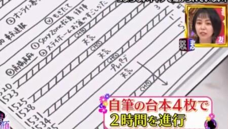 ゴゴスマMC石井亮次の一日密着で分かる仕事ぶり 手書きの台本は4枚04