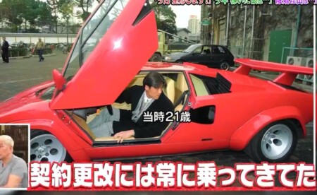 新庄剛志の車。21歳で乗っていたランボルギーニは貰い物。ダウンタウンなう