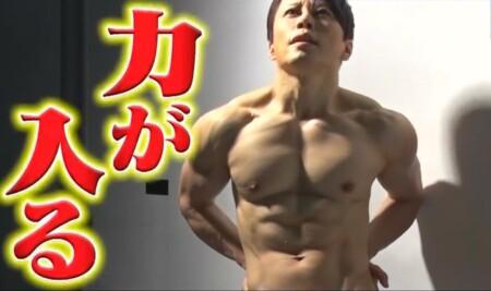 西川貴教のカットがかかる上半身の筋肉。写真集撮影風景