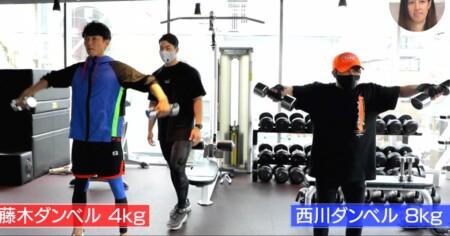 おしゃれイズム 西川貴教の筋トレメニュー公開!8kgダンベルでサイドレイズ