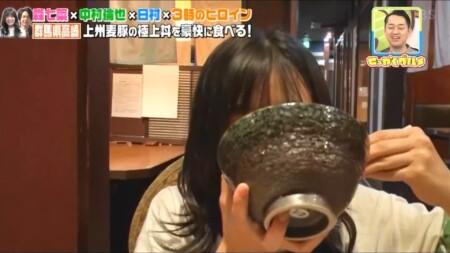 せっかくグルメ高崎編 丼が大きいのか顔が小さいのか分からない森七菜
