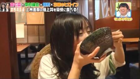 せっかくグルメ高崎編 丼をかき込む森七菜