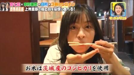 せっかくグルメ高崎編 箸に付いたご飯粒も逃さない森七菜
