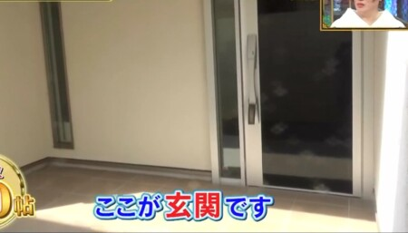 ココリコ遠藤章造の自宅 玄関ドア