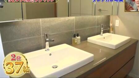 ダレノガレ明美の自宅 洗面台には水滴一切なし