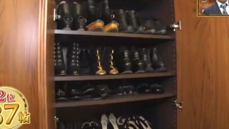 ダレノガレ明美の自宅 靴は全て靴箱に収納