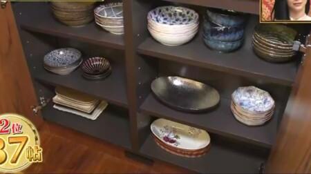 ダレノガレ明美の自宅 食器は食器棚へ