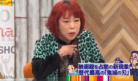 ワイドナショー 鬼滅の刃解説で登場の椿鬼奴02