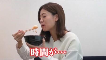 深イイ話 ミヤネ屋澤口実歩アナ 3分間で丼をかき込む