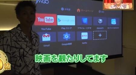 EXILE SHOKICHIの自宅 エロい寝室にはスクリーン完備