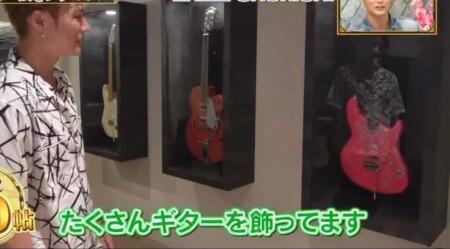 EXILE SHOKICHIの自宅 ギターのコレクション用に特注ケース