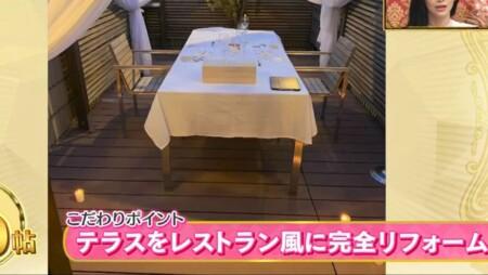 EXILE SHOKICHIの自宅 テラスをレストラン風に完全リフォーム