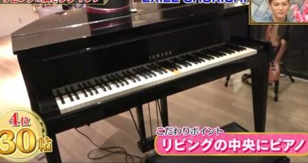EXILE SHOKICHIの自宅 リビングにはヤマハのグランドピアノ