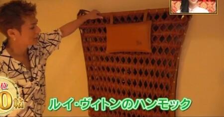 EXILE SHOKICHIの自宅 ルイ・ヴィトンの600万円ハンモック
