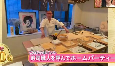 EXILE SHOKICHIの自宅 寿司職人を呼んでホームパーティー