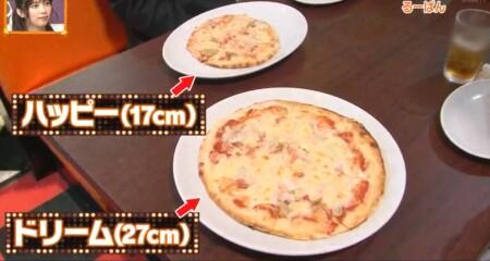 ケンミンショー 埼玉グルメで紹介されたチェーン店るーぱん ハッピーとドリームのサイズ比較
