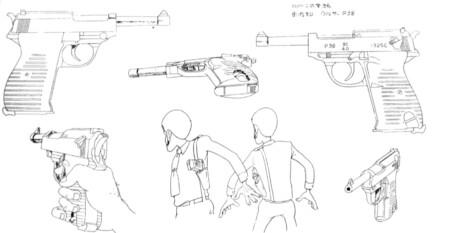 ルパン三世 カリオストロの城 設定資料集 ルパンの銃はワルサーP38