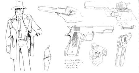 ルパン三世 カリオストロの城 設定資料集 銭形警部の幻の銃コルトM1911A1