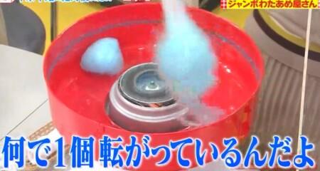 所さんお届けモノです 一芸家電 わたあめ作りでわたボールを作る新井恵理那