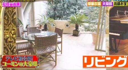 櫻井・有吉THE夜会 ユーミンの自宅写真 リビングと庭園
