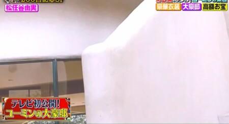 櫻井・有吉THE夜会 ユーミンの自宅写真 角ばった部分を排しているこだわりの螺旋階段