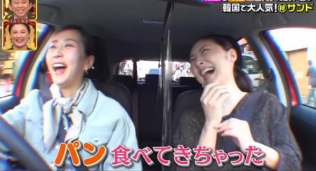 櫻井・有吉THE夜会 常盤貴子&木南晴夏のパン爆食い巡り(パン部ツアー) 車中の様子