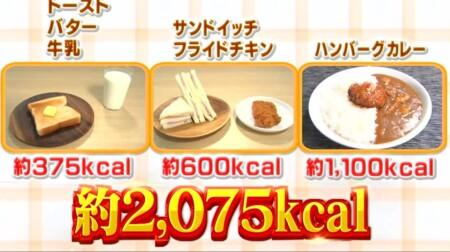 それって実際どうなの課 朝食抜きダイエットvs夕食抜きダイエットどちらが効果がある?1日目の総摂取カロリー