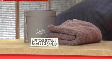 ホンマでっか 明石家さんまが2020年買って良かったベストバイ商品3つは?第3位 育てるタオル feel バスタオル