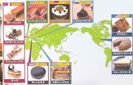マツコの知らない世界 チョコレートケーキの世界で4ジャンル別紹介の全12品 国別のチョコレートケーキの種類