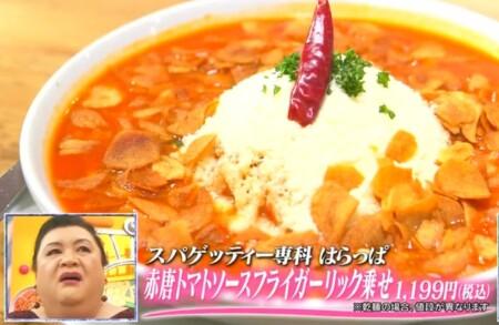 マツコの知らない世界 紹介された高崎パスタとは?おすすめ店 スパゲッティー専科 はらっぱ
