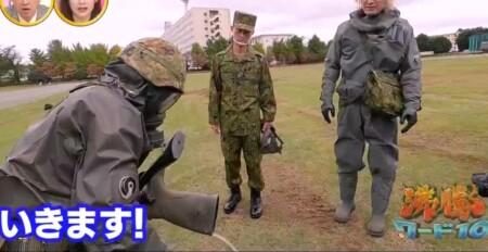 沸騰ワード カズレーザーが自衛隊化学学校で対テロリスト訓練&NBC偵察車搭乗 化学防護衣でかく汗の量