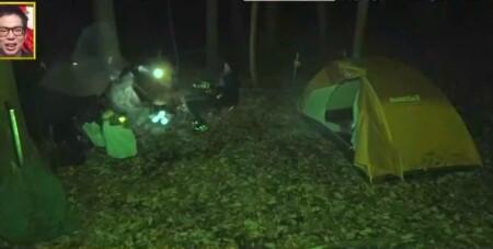 深イイ話 バイきんぐ西村のソロキャンプ1泊2日に番組カメラ密着!真夜中の様子
