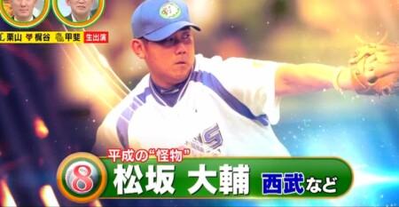 12球団現役選手&OBが選ぶ史上最強の速球派投手ランキングベスト50 第8位 松坂大輔