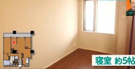 EXIT 兼近の家の引っ越し先家賃がすごい!自宅をテレビ初公開 中央のベッドルーム5帖