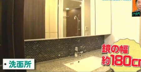 EXIT 兼近の家の引っ越し先家賃がすごい!自宅をテレビ初公開 洗面所