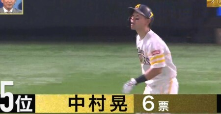 S-PARK プロ野球100人分の1位 バットコントロール部門 現役選手が選ぶランキングトップ5 第5位 中村晃