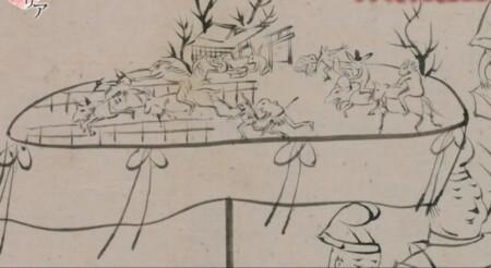 歴史秘話ヒストリア 鳥獣戯画にカエル・うさぎ・猿が描かれている意味とは?年中行事絵巻