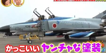 沸騰ワード カズレーザーが航空自衛隊で戦闘機F4ファントム搭乗 青の記念塗装機