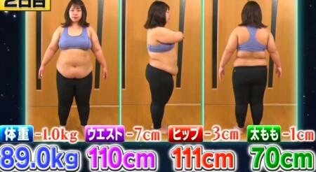 それって実際どうなの課 バランスボール椅子のダイエット効果は?2日目の餅田コシヒカリの体重・ウエストなど