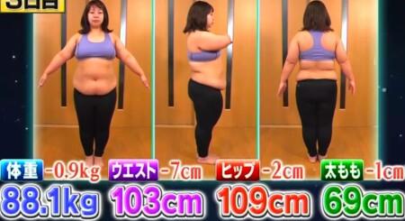 それって実際どうなの課 バランスボール椅子のダイエット効果は?3日目の餅田コシヒカリの体重・ウエストなど